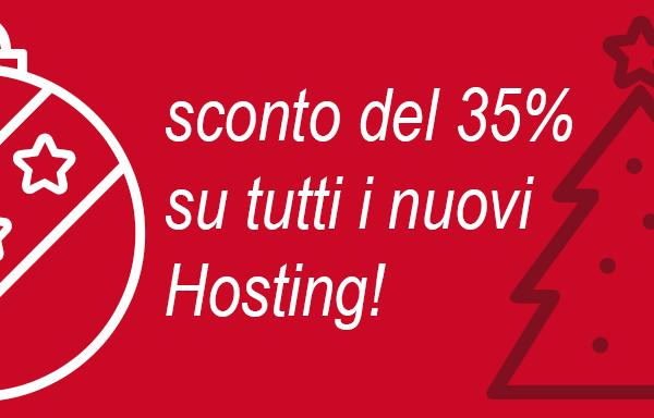 sconto del 30% su tutti i nuovi hosting